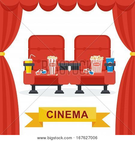 Cinema Chairs Curtains