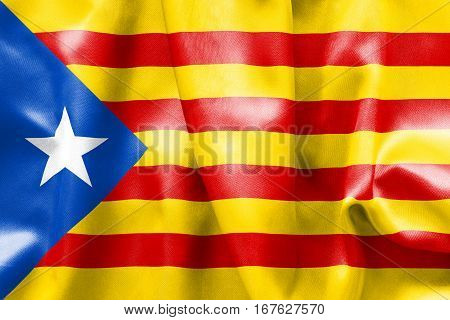 Estelada flag texture 3D illustration creased and crumpled up with light and shadows
