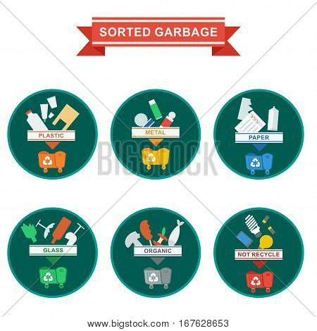 Sorted Garbage Icons
