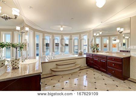 Luxurious Master Bath Boasts Jetted Tub