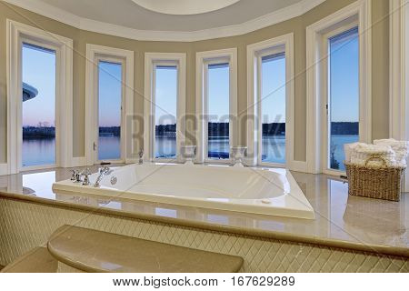 Luxurious Master Bath Boasts Jetted Tub