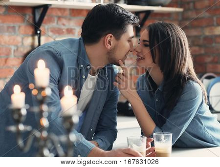 Relationship, love. Lovely couple together