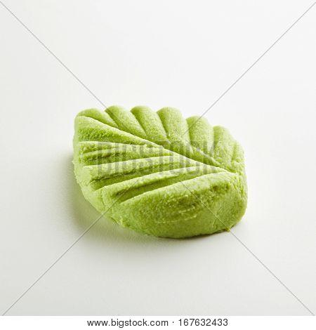 Wasabi Leaf Shape on White Background