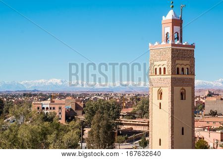 Mosque in the city of Ouarzazate Morocco