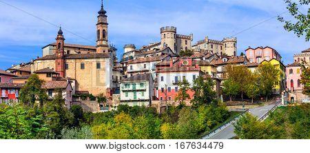 Pictorial medieval village(borgo) Castiglione d'Asti in Piemonte, Italy