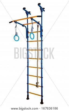 Wall bars isolated on white clipping path included