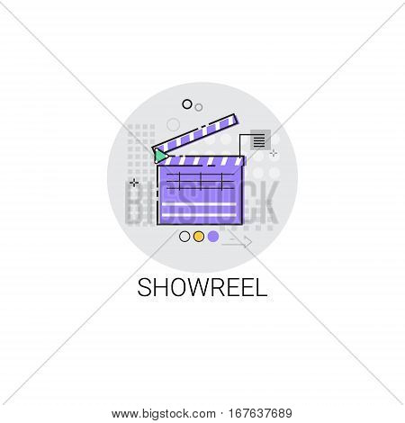 Showreel Correction Camera Film Production Industry Icon Vector Illustration