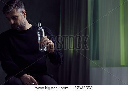 Man With Alcohol Addiction