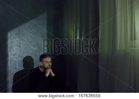 Man Struggling With Depression