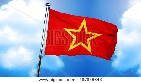 Red army symbol flag, 3D rendering