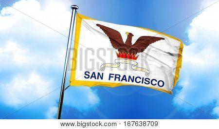 San Francisco flag, 3D rendering