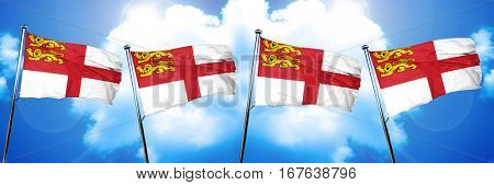 Sark channel island flag, 3D rendering