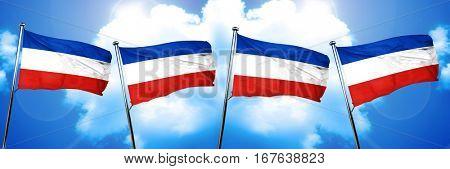 Schleswig holstein flag, 3D rendering