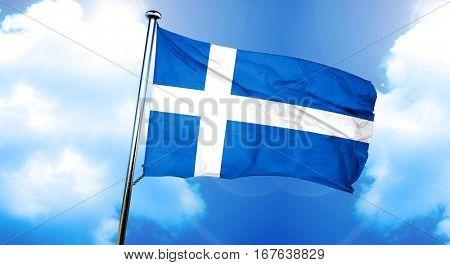 Shetland flag, 3D rendering