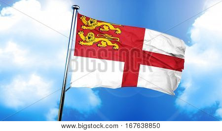 Sark channel island flag, 3D rendering