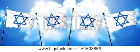Star of David flag, 3D rendering