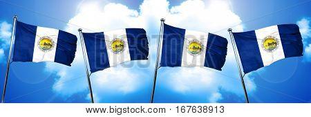 Toledo flag, 3D rendering