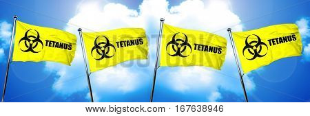 Tetanus flag, 3D rendering