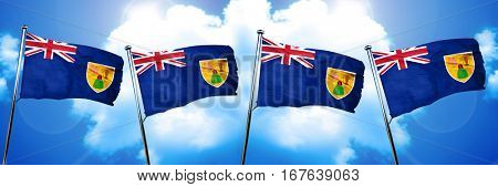 Turks and caicos islands flag, 3D rendering
