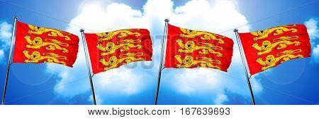 upper normandy, haute normandie flag, 3D rendering