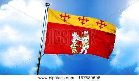 Warwickshire flag, 3D rendering