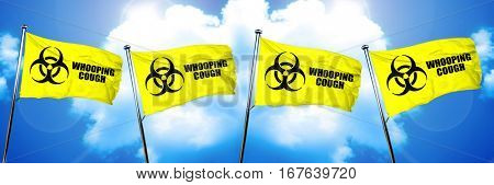Whooping cough flag, 3D rendering
