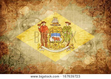 Vintage delaware flag