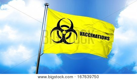 Vaccinations flag, 3D rendering