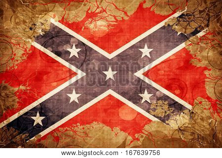 Vintage Rebel symbol flag