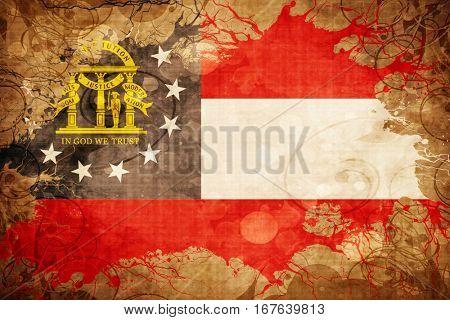 Vintage georgia flag