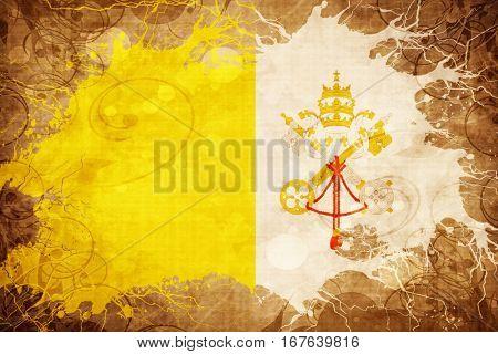 Vintage papal state flag