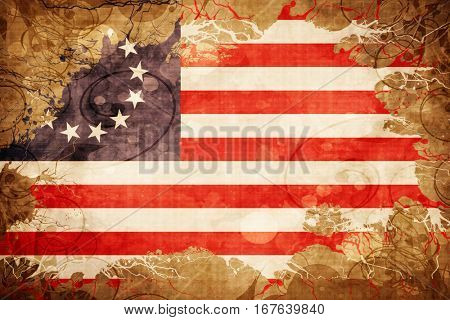 Vintage Betsy ross american early design flag