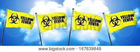 Yellow fever flag, 3D rendering