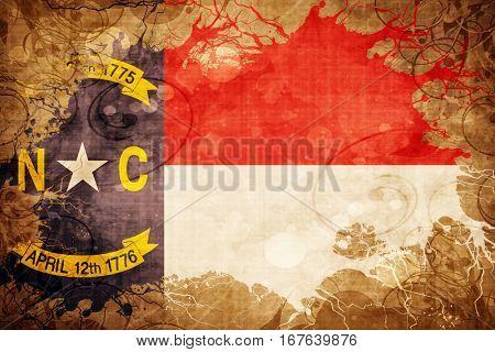 Vintage north carolina flag