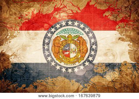 Vintage missouri flag