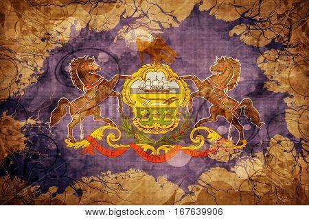 Vintage pennsylvania flag