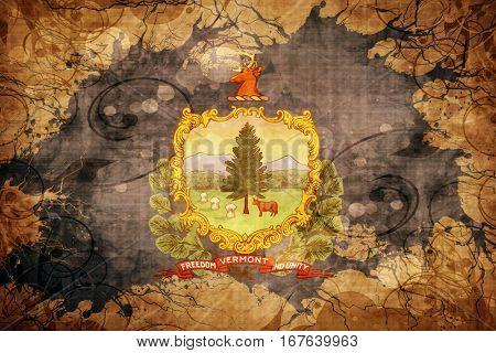Vintage vermont flag