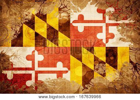 Vintage maryland flag