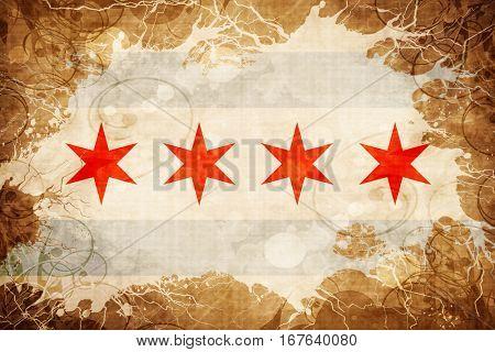 Vintage Chicago flag