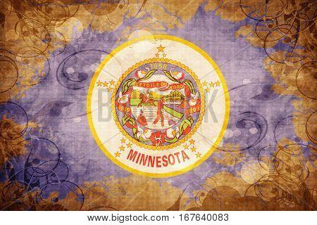 Vintage minnesota flag