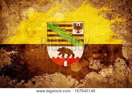 Vintage Saxony anhalt, sachsen flag