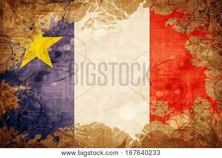Vintage Acadia flag
