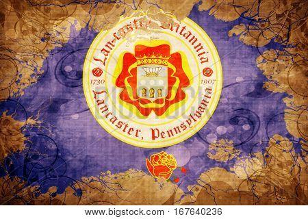 Vintage Lancaster flag