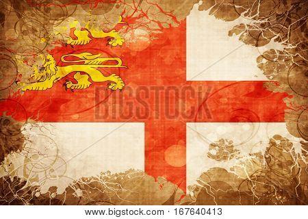Vintage Sark channel island flag