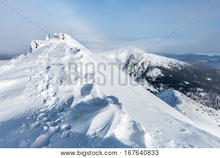 Winter Mountain Snowy Ridge