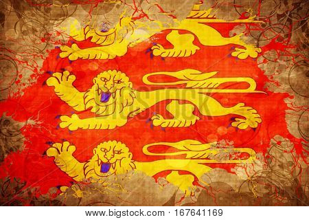 Vintage upper normandy, haute normandie flag