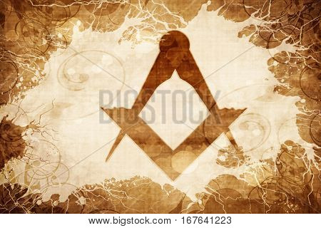 Grunge vintage freemason sign