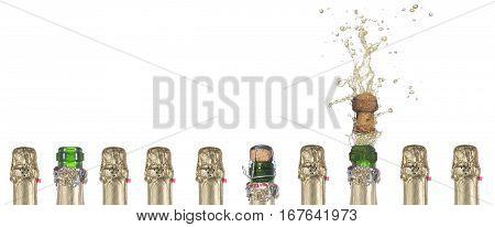 popping champagne cork symbolizing success in work a successful idea