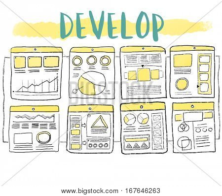 Development Develop Workflow Design Graphic Word