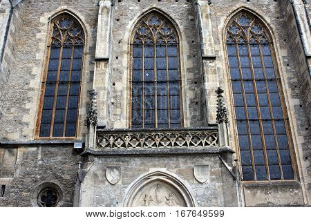 Detail of the parish church of St. Othmar in Modling, Austria